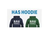 HAS Hoodie Groen of Blauw (alleen afhalen)